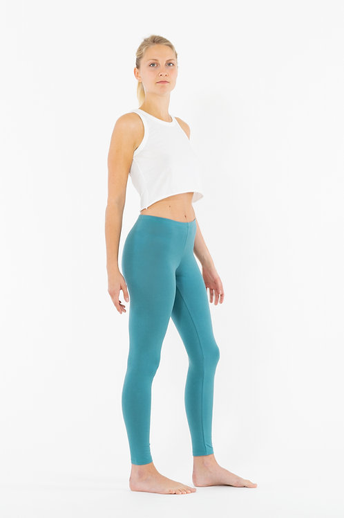 Yoga Leggings Plain CYAN