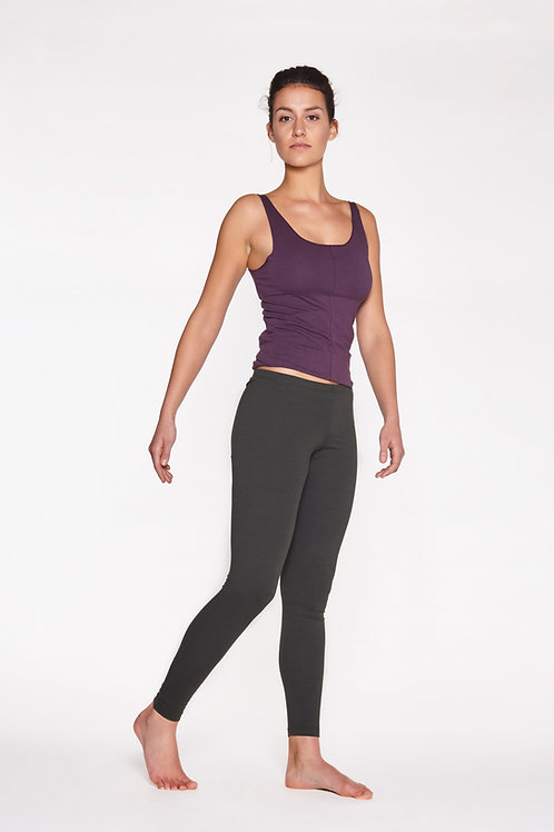 Yoga Leggings Plain - PEAT GREY