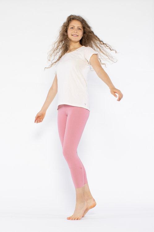 Yoga T - Shirt -LIGHT ROSE
