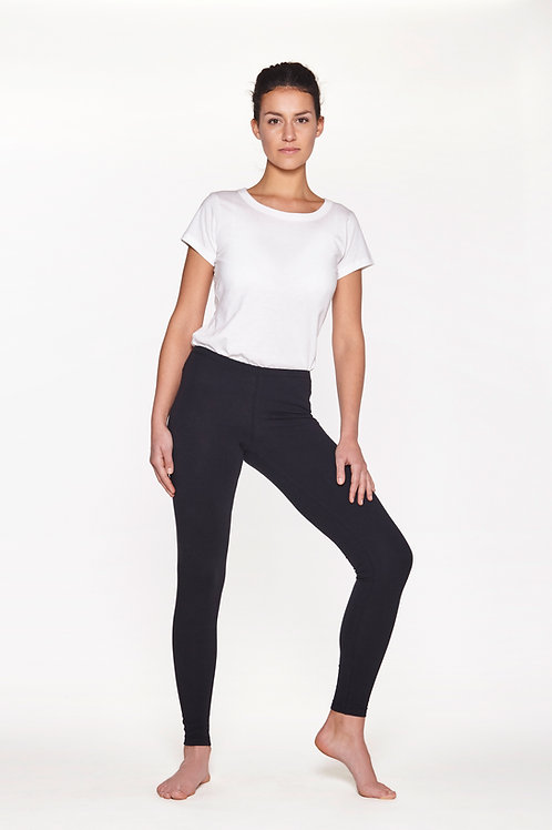 Yoga Leggings Plain -  SOFT BLACK