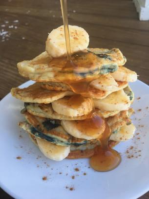 Blueberry Vanilla Paleo Pancakes