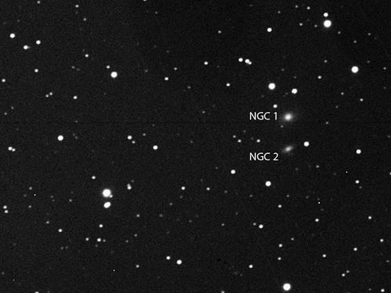 NGC 1, NGC 2 and UGC 69