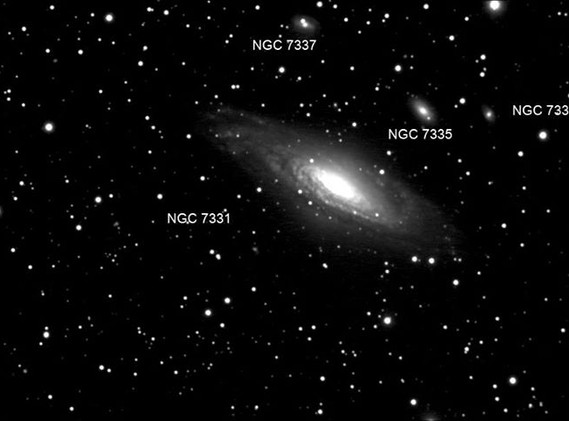 NGC 7731 Group of Galaxies