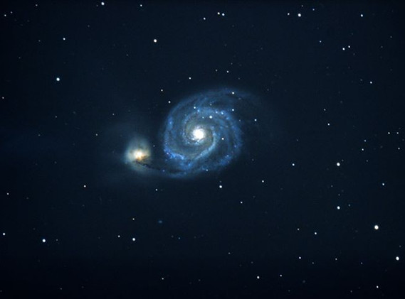 M51 (NGC-5194) The Whirpool Galaxy