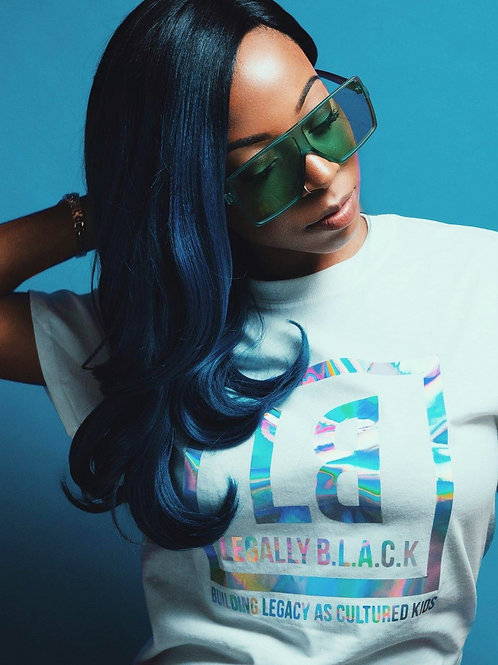 Legally B.L.A.C.K. Holographic T-shirt White