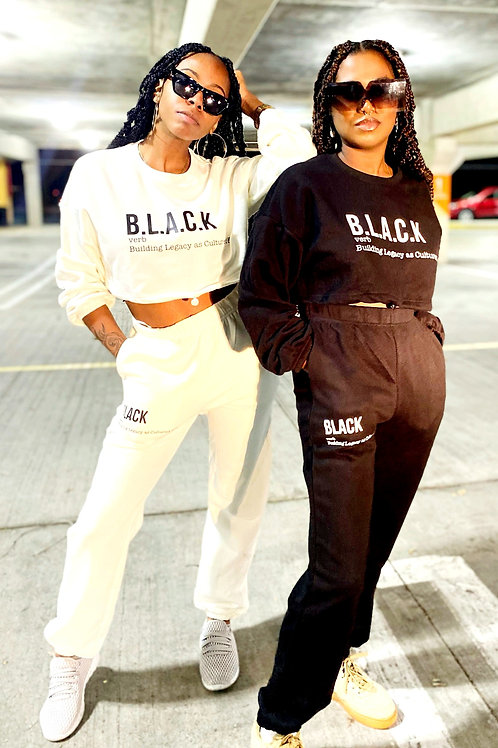 Legally B.L.A.C.K. Women's Crewneck set