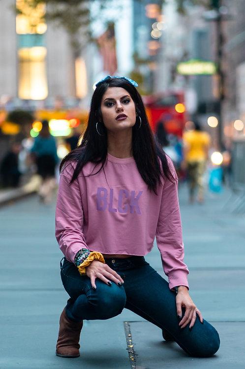 Rose Pink LB Cropped Sweater