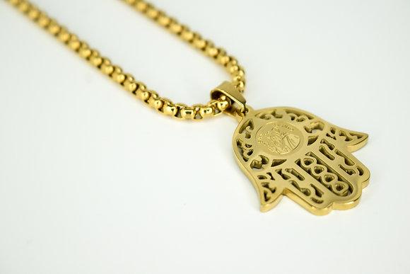 SAN BENITO HAMSA HAND (LARGE) GOLD