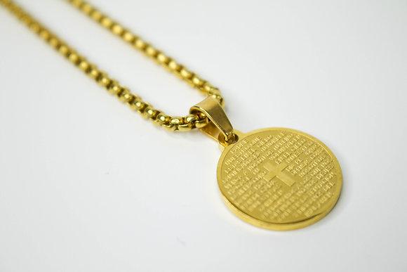 CIRCULAR MINI CROSS GOLD