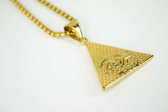 EYE OF RA TRIANGLE GOLD