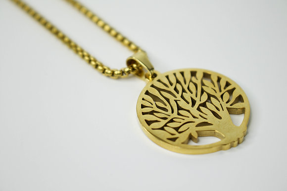 CIRCULAR TREE OF LIFE GOLD (SMALL)