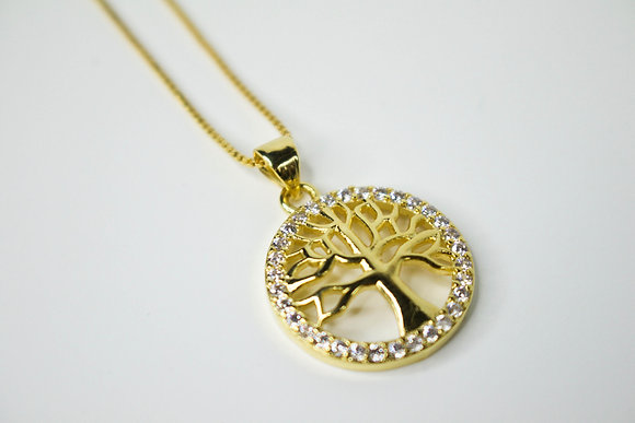 CRYSTAL TREE OF LIFE GOLD/SILVER