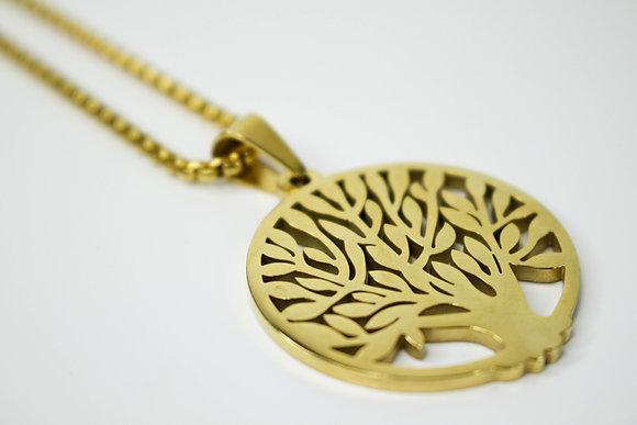 CIRCULAR TREE OF LIFE GOLD (LARGE)