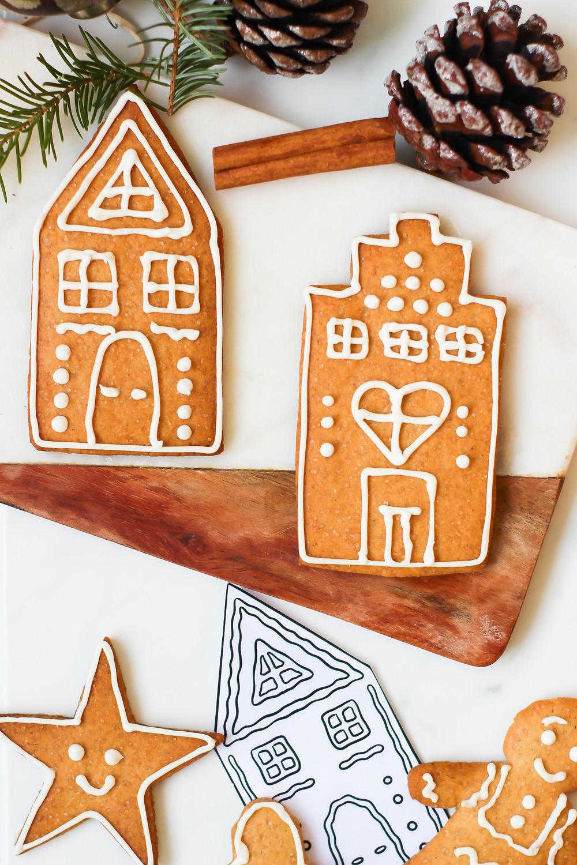 biscotti stampini natale casette omini zenzero ricetta stampabile