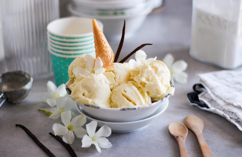 gelato vaniglia fatto in casa senza gelatiera