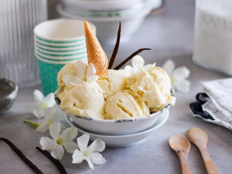 Gelato alla vaniglia fatto in casa (senza gelatiera)