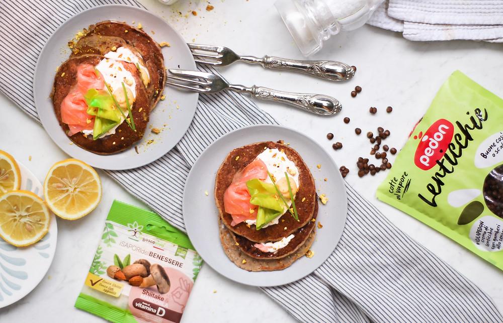 pancake proteici lenticchie ricette facile