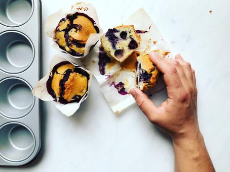 Muffin ai mirtilli: la ricetta americana facile e veloce