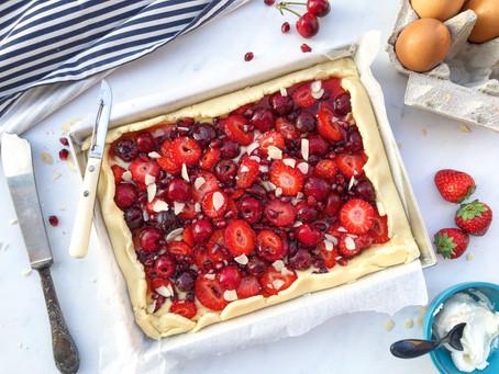Ricetta brunch: galette ai frutti rossi al gusto di cheesecake