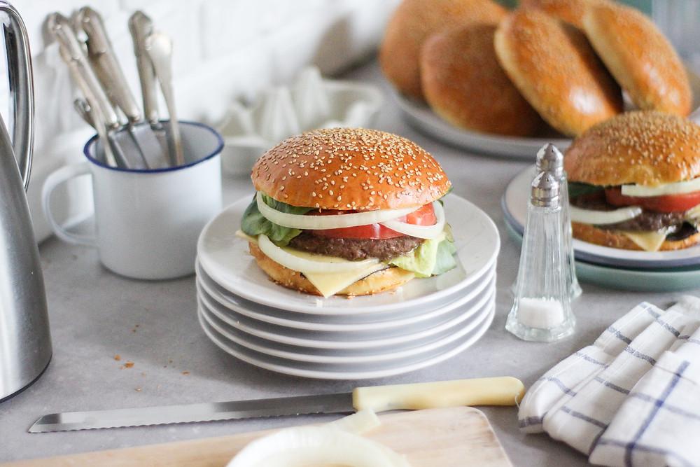 pane da hamburger fatto in casa