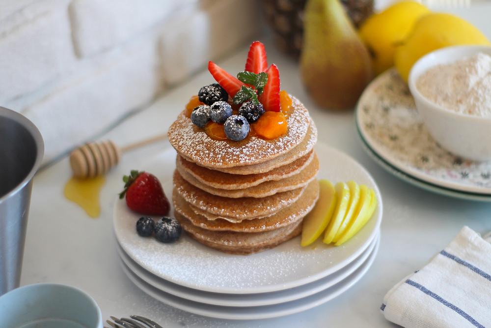 pancake integrali ricetta brunch senza uova