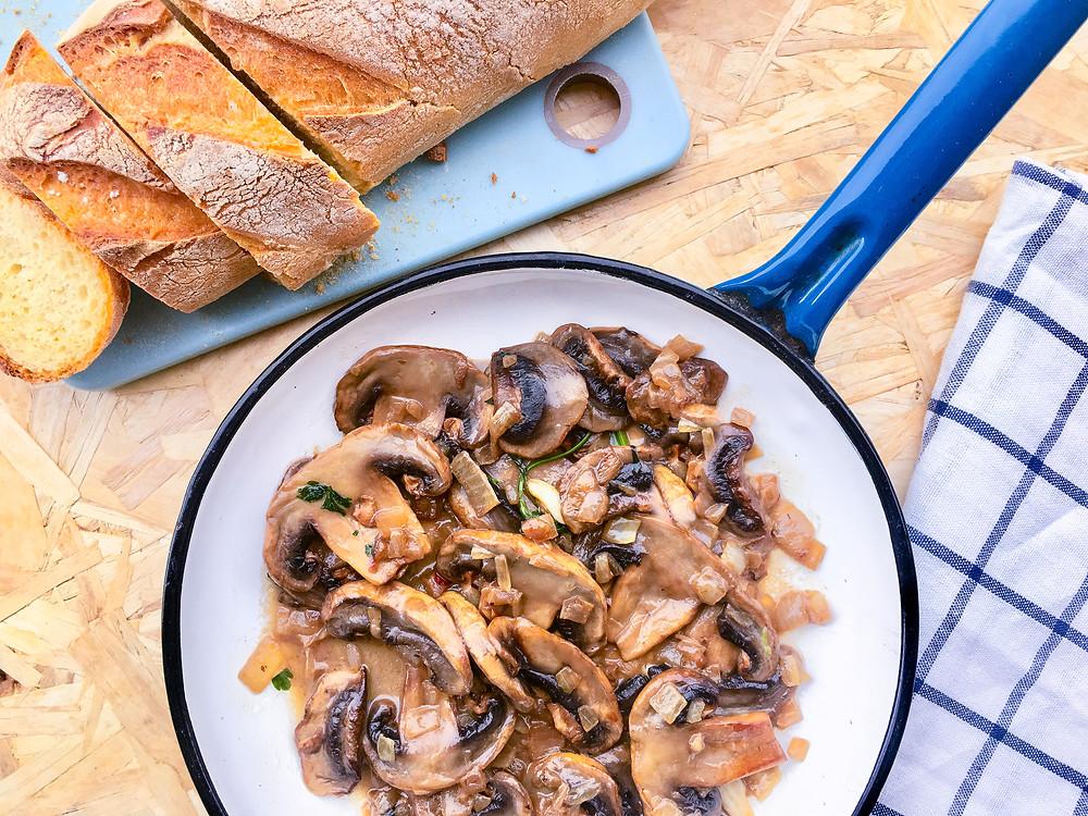 ricetta funghi champignon in padella trifolati brunch buon brunch