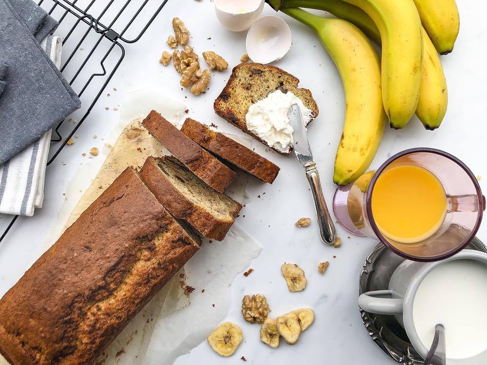 banana bread ricetta facile morbida