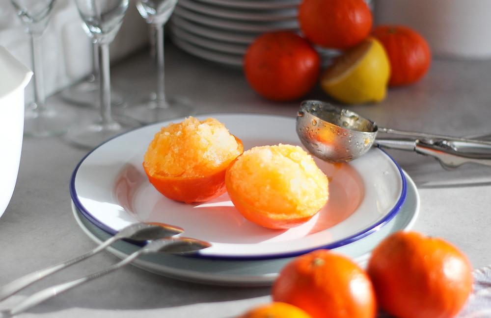 sorbetto al mandarino senza gelatiera come farlo