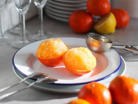 Sorbetto al mandarino senza gelatiera: ricetta veloce