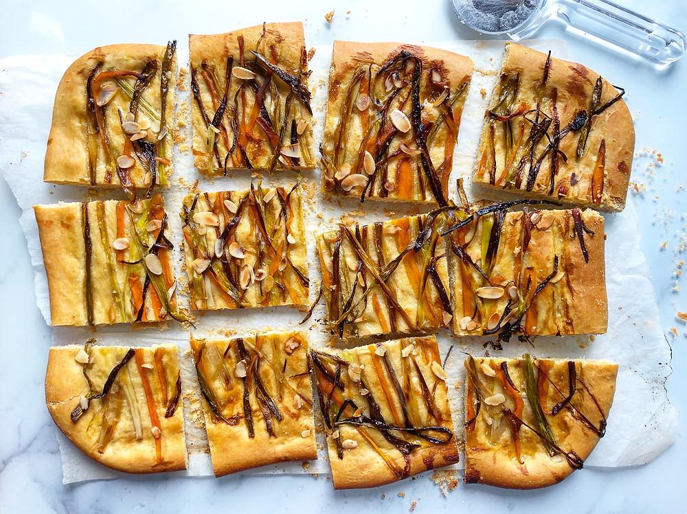 focaccia brunch carote e cipollotti ricette brunch