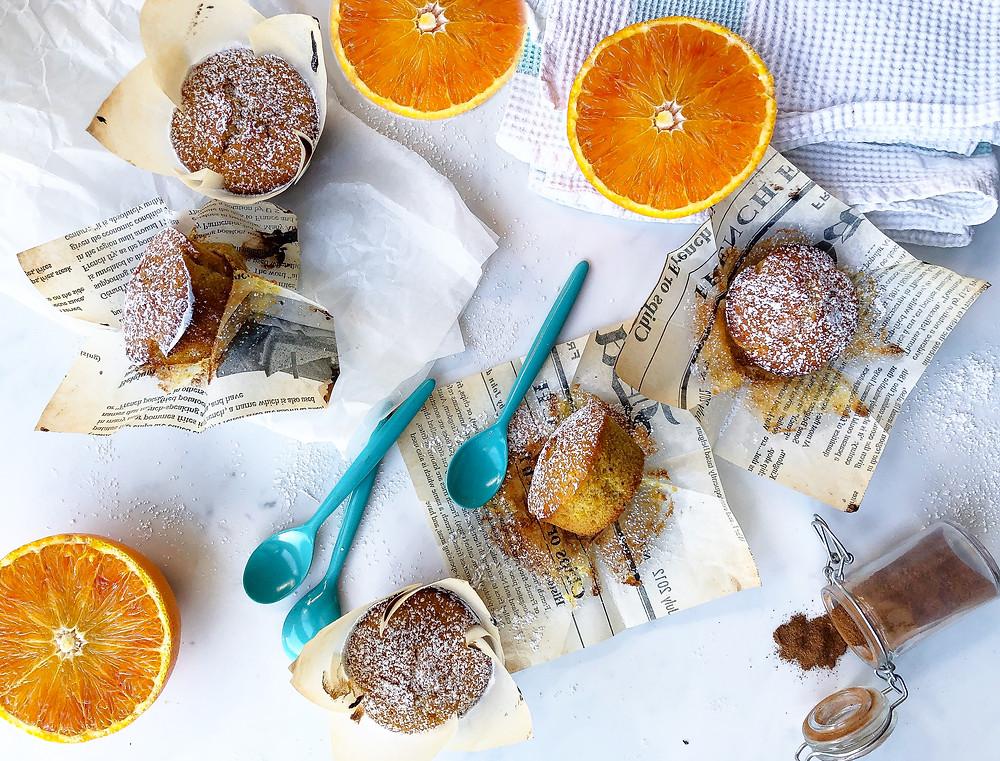 ricetta muffin brunch arancia cannella zenzero