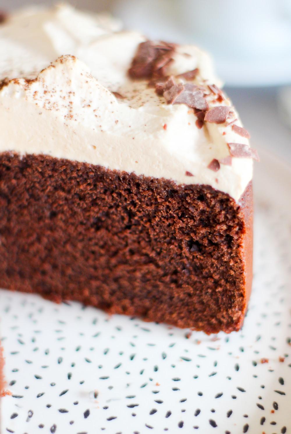 ricetta torta caffè cioccolato morbida veloce facile