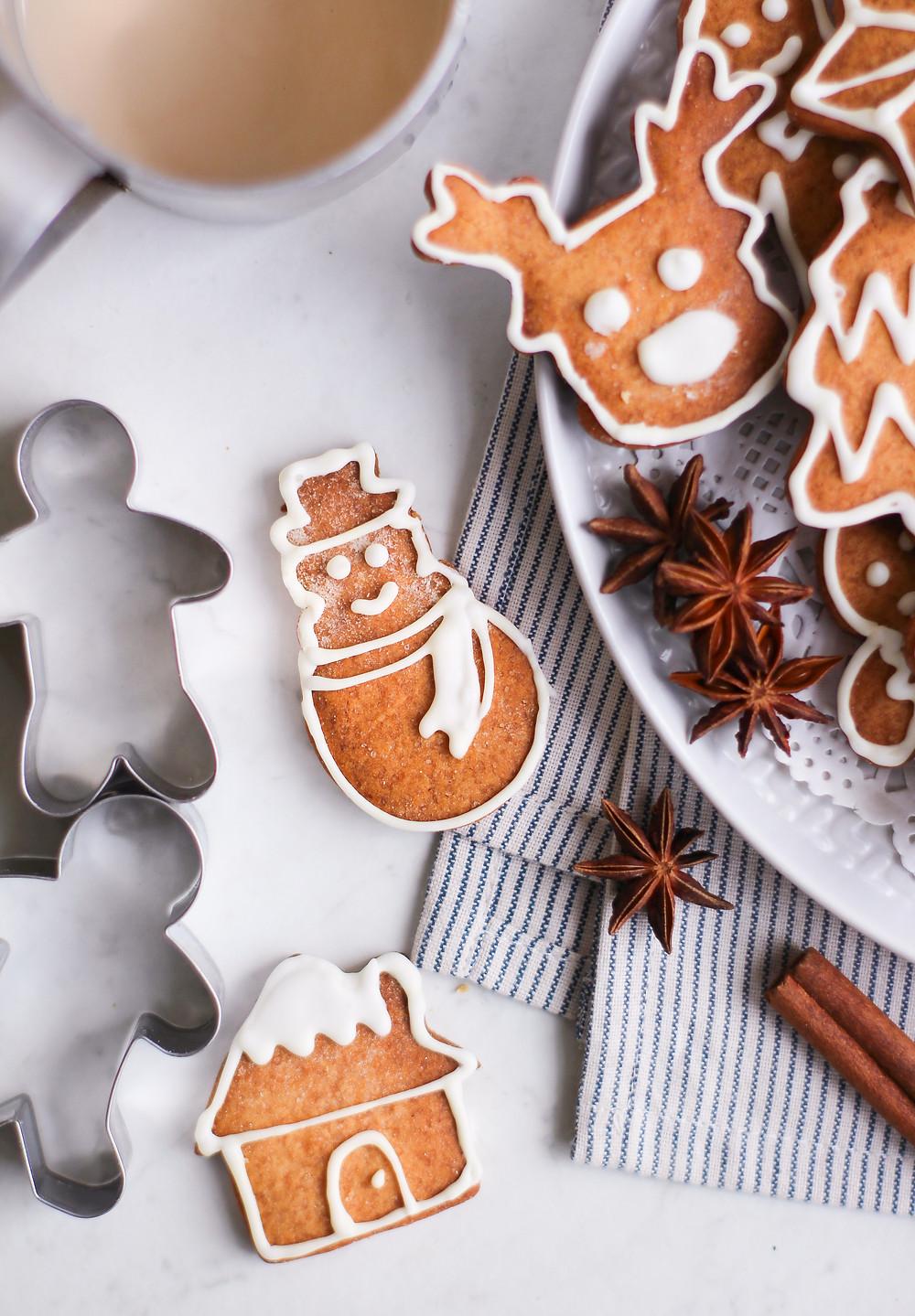 ricetta biscotti allo zenzero natale gingerbread cookies burro light