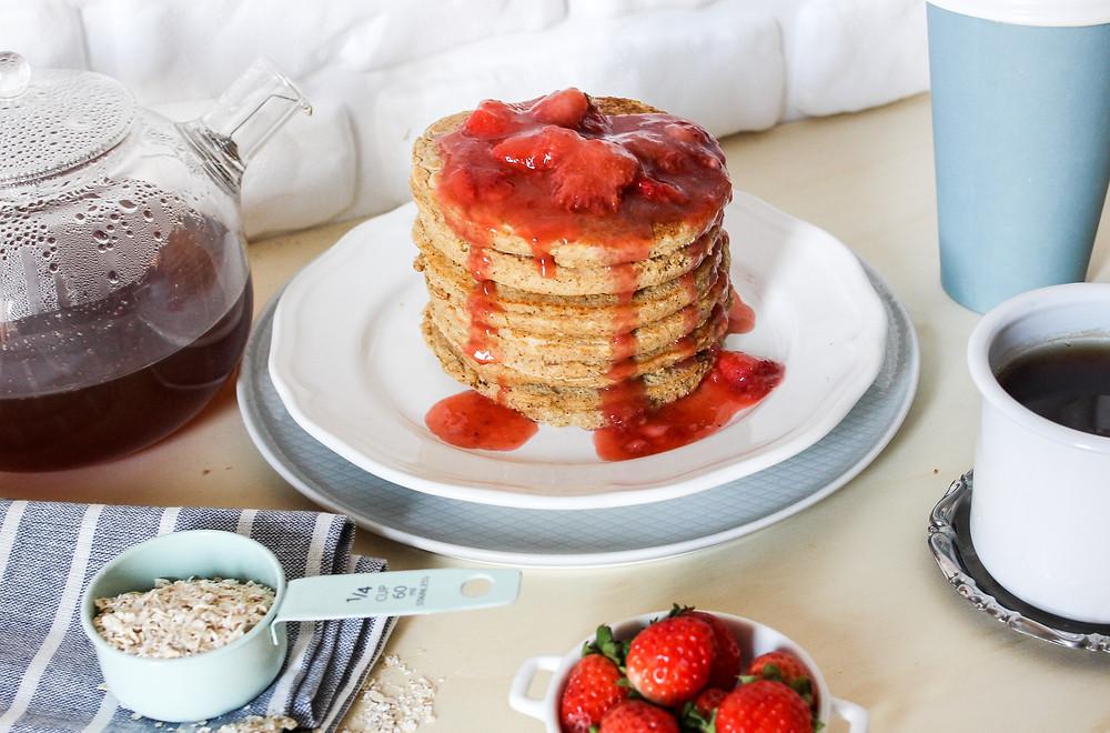 pancake integrali alle fragole ricetta facile