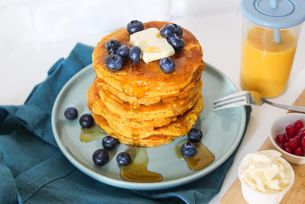 pancake zucca ricetta facile brunch buonbrunch