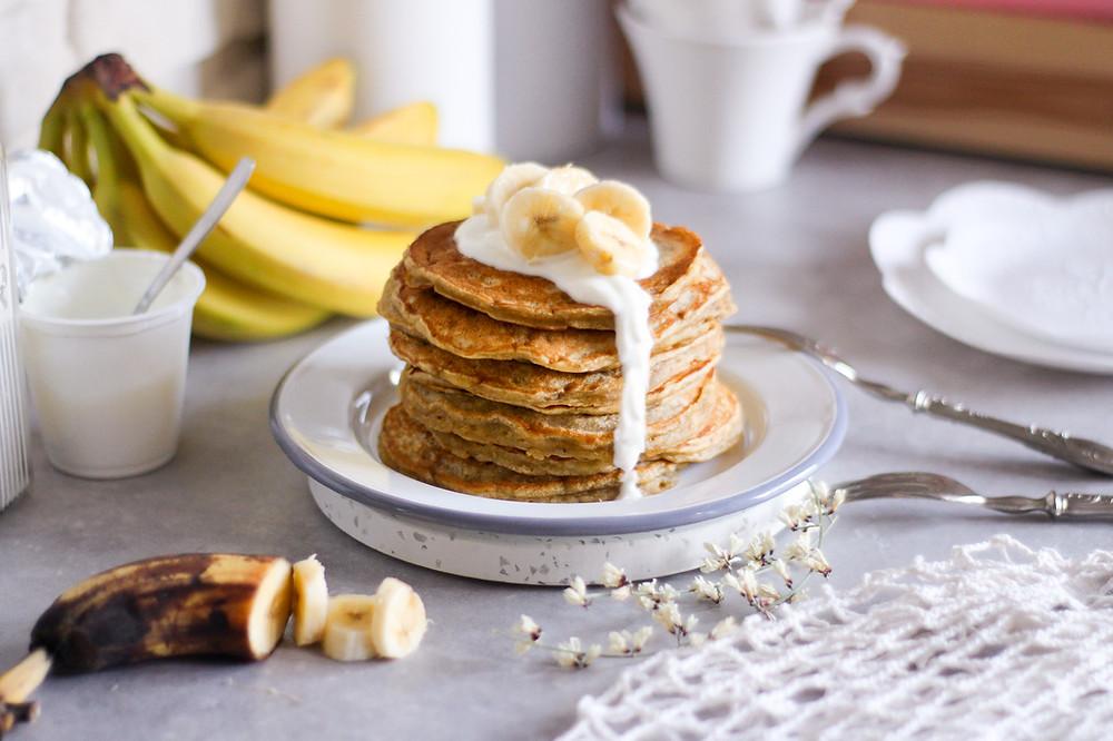 ricetta pancake alle banane facile brunch