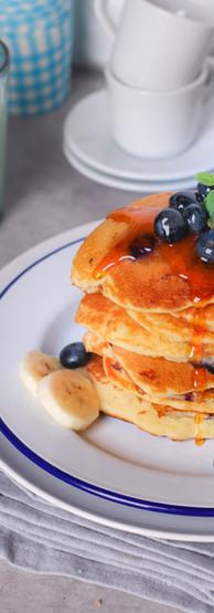 Pancake classici ai mirtilli