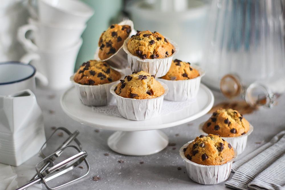 muffin con gocce di cioccolato ricetta facile americana
