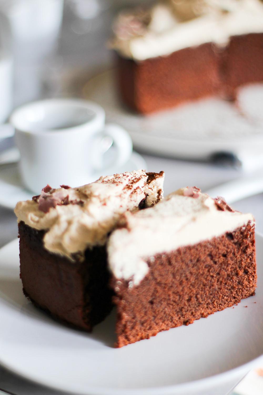 torta caffè cioccolato morbida
