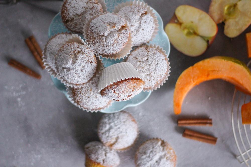 ricetta muffin con mele e zucca