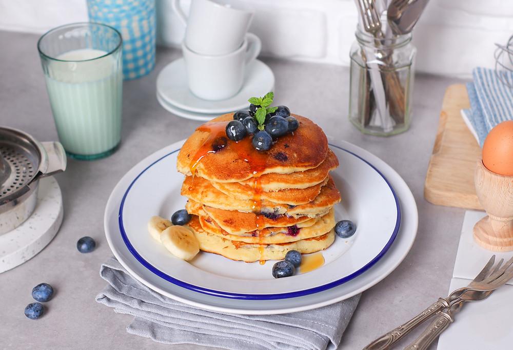 ricetta pancake mirtilli burro buonbrunch