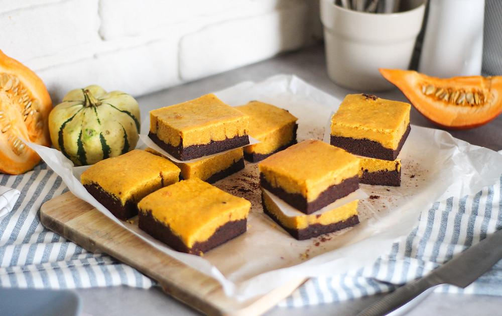 brownies cioccolato e zucca ricetta americana