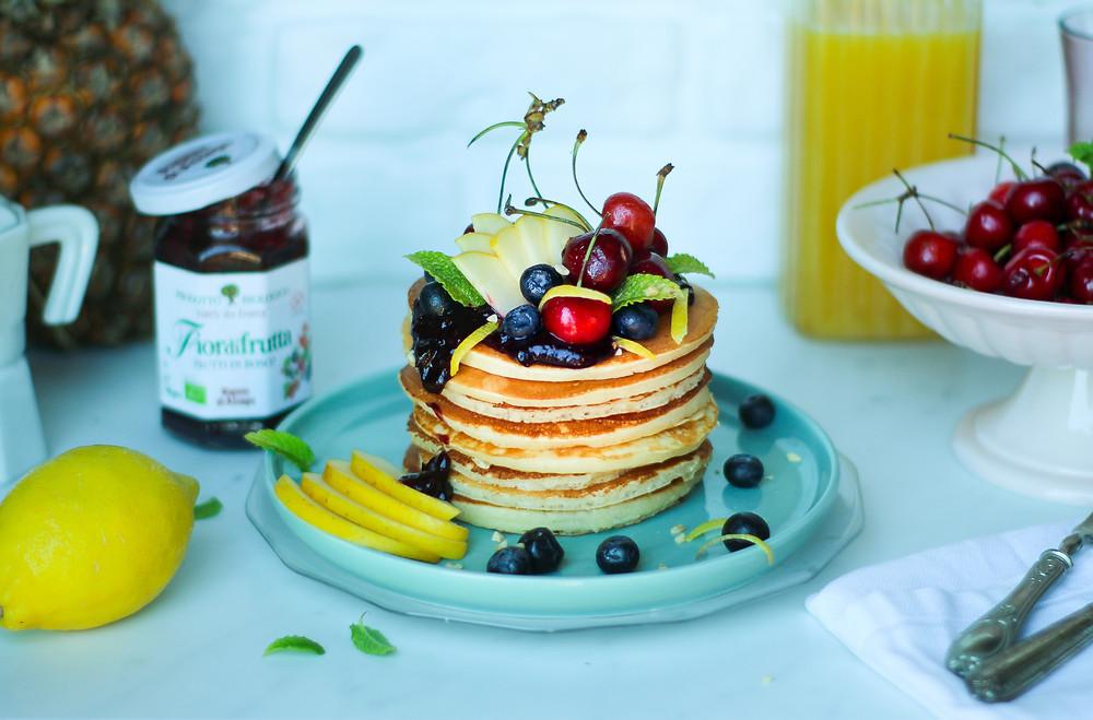 pancake senza zucchero alla frutta brunch buonbrunch ricetta