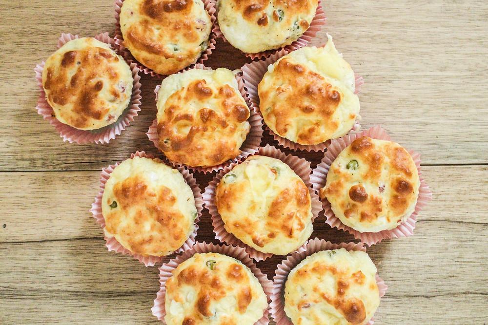 muffin salati al formaggio e pancetta ricetta brunch