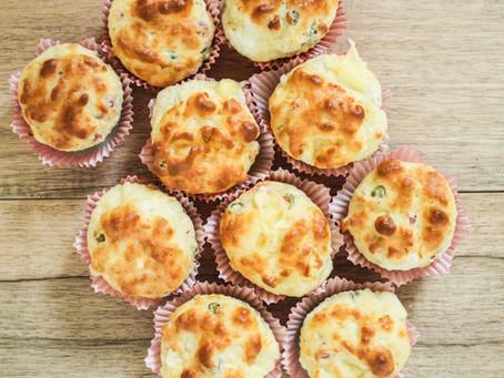 Muffin salati ai 4 formaggi e pancetta: what else?