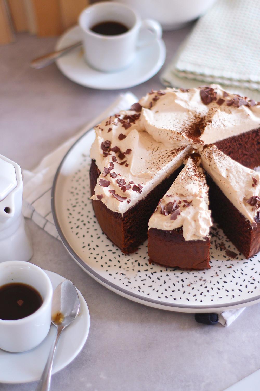 torta caffè cioccolato morbida veloce ricetta