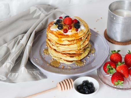 Pancake allo yogurt greco: la ricetta facile e sana