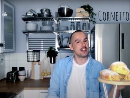 Cornetti come al bar: la video ricetta passo-passo