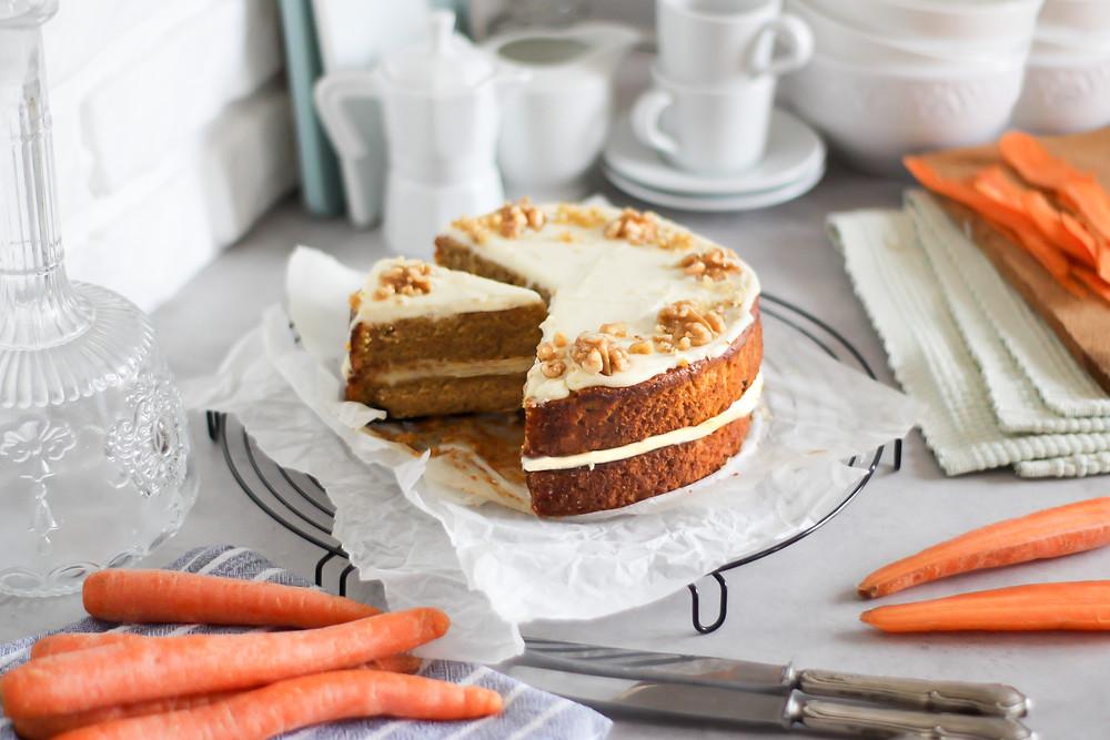 carrot cake torta carote ricetta facile
