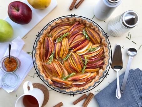 Tarte invernale di mele e rosmarino: la ricetta facile